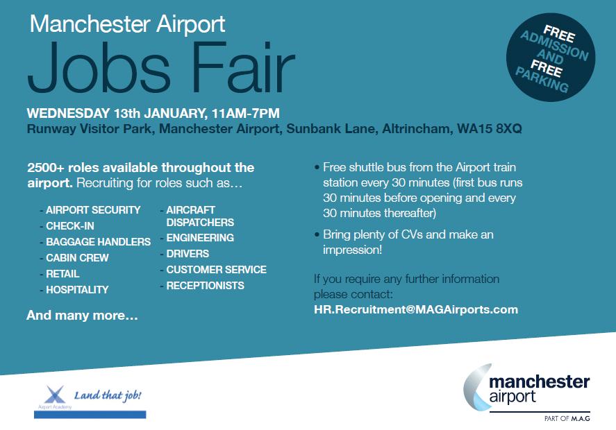Manchester Airport Jobs Fair -13th January - WCHG