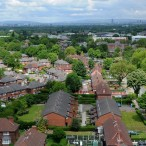 General aerial shot of Wythenshawe