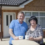 Mr and Mrs Walker in their new WCHG bungalow